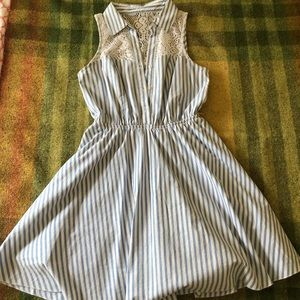 Bailey Blue, striped blue and white dress Size S